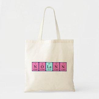 Nolann periodic table name tote bag