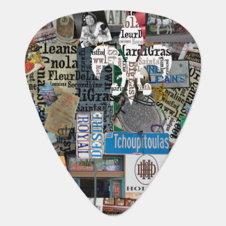 NolaOriginals Collage Art Guitar Pick