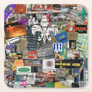 NolaOriginals Collage Art Party Coasters
