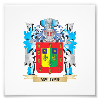 Nolder Coat of Arms - Family Crest Photograph