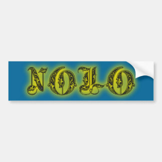 NOLO New Orleans Glowing Tattoo Cards + Stickers Bumper Sticker