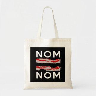 Nom Bacon Bacon Nom Budget Tote Bag