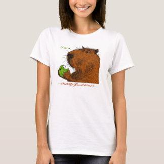 """Nom."" Colorful Capybara Woman's Tee"