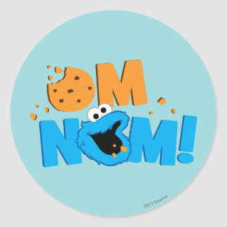 Nom Nom Cookie Round Sticker