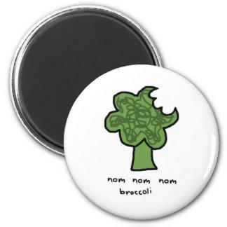 Nom nom nom broccoli magnet
