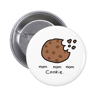 Nom nom nom cookie (button) 6 cm round badge