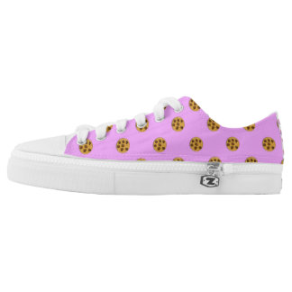 Nom Nom Nom Cookie Polka Dot Print Skate Shoes Printed Shoes