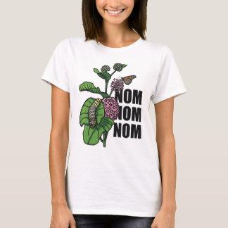 Nom Nom Nom Monarch Butterfly Caterpillar Milkweed T-Shirt
