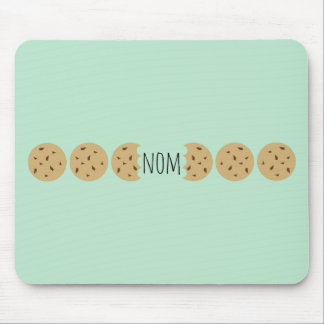"""""""Nom"""" The Choc Chip Cookie Mousemats"""