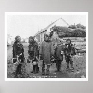 Nome Eskimo Berry Pickers 1916 Poster
