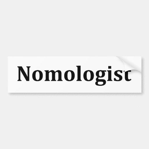 nomologist bumper stickers