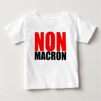NON à MACRON baby white tee