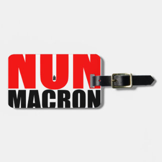 NON à MACRON Luggage Tag