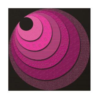 Non-Concentric Circles Wood Art