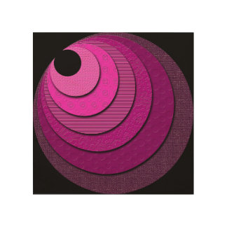 Non-Concentric Circles Wood Art