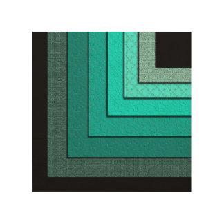 Non-Concentric Squares Wood Art