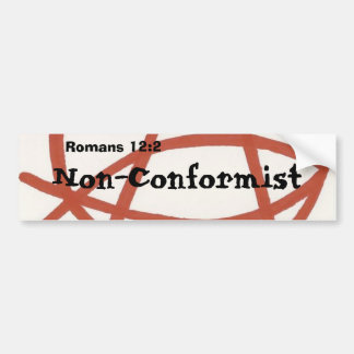 Non-Conformist Bumper Sticker