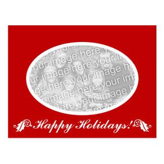 Non denominational Holiday oval photo postcard