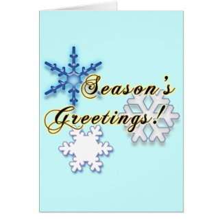 Non-Denominational Holidays with Snowflakes Card