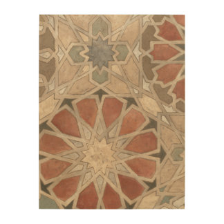 Non-Embellished Marrakesh Design I Wood Wall Art