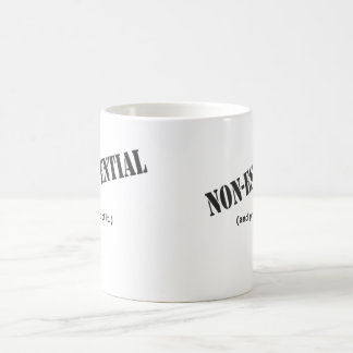 Non essential and proud of it. coffee mugs