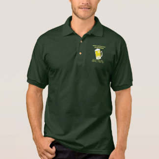 Non-Essential Personnel Beer Drinking Skill Sets Polo T-shirt