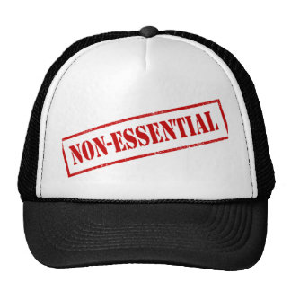 Non Essential Stamp Mesh Hats