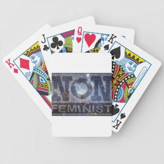 non-fem, blue stars poker deck