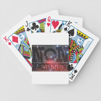 non-fem, red stars bicycle playing cards
