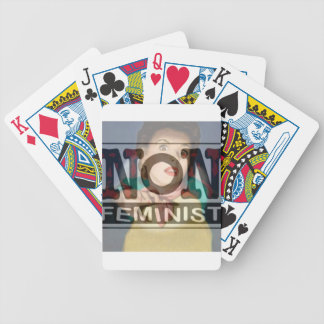 non-fem, woman bicycle playing cards