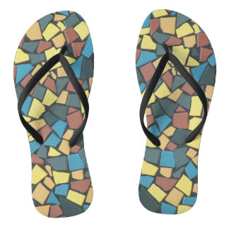 Non-figurative Mosaic Thongs