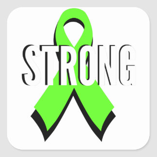 non-Hodgkin lymphoma lime green support STRONG Square Sticker