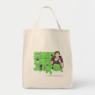 Non-Hodgkins Lymphoma Fighter - Fights Like a Girl Tote Bags