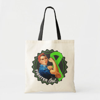 Non-Hodgkins Lymphoma Fighter Gal Budget Tote Bag
