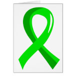 Non-Hodgkin's Lymphoma Lime Green Ribbon 3 Greeting Cards