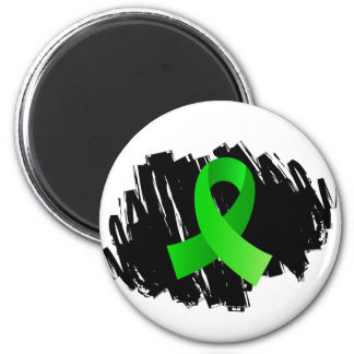 Non-Hodgkin's Lymphoma Lime Green Ribbon With Scri Magnets