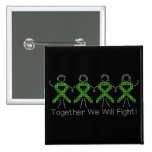 Non-Hodgkins Lymphoma Together We Will Fight 15 Cm Square Badge