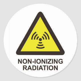 Non Ionizing Radiation Classic Round Sticker