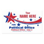 Non-Partisan Political Election Campaign Pack Of Standard Business Cards