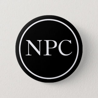 Non-Player Character 6 Cm Round Badge