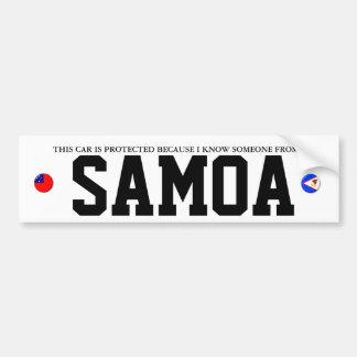 NON-SAMOAN CAR ALARM BUMPER STICKER
