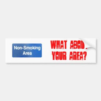 Non Smoking Area Car Bumper Sticker