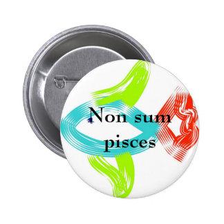 Non sum pisces pinback buttons