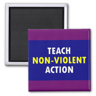 non violent action square magnet