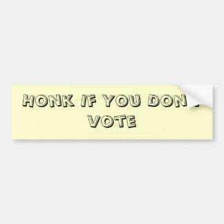 Non-Voter Bumper Sticker  (Noisy Version)