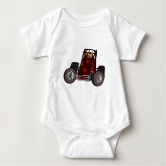 Non-wing sprint car #1 baby bodysuit