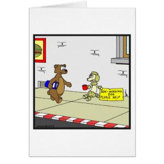 Non-Working Dog: Dog cartoon Card