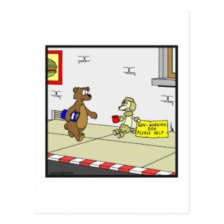 Non-Working Dog: Dog cartoon Postcard