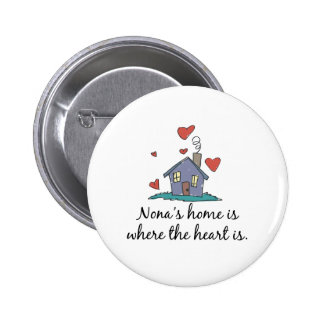 Nona apos s Home is Where the Heart is Pinback Button