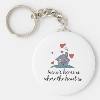 Nona's Home is Where the Heart is Basic Round Button Key Ring